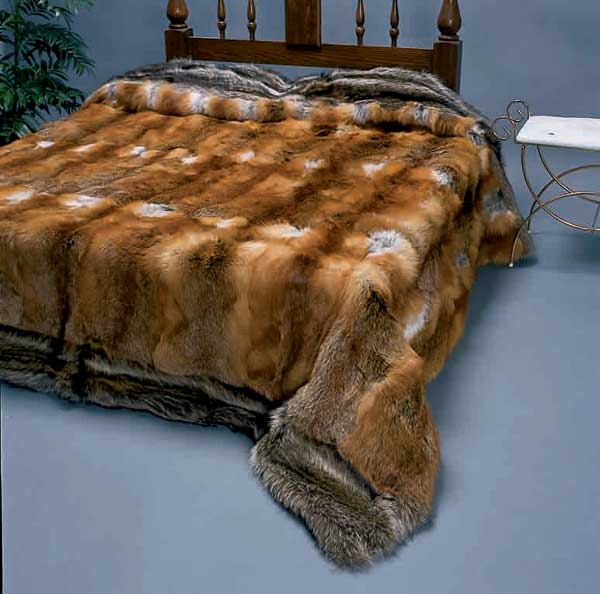 Real Fur Bedspreads Of Fox Mink Lynx Chinchilla Beaver