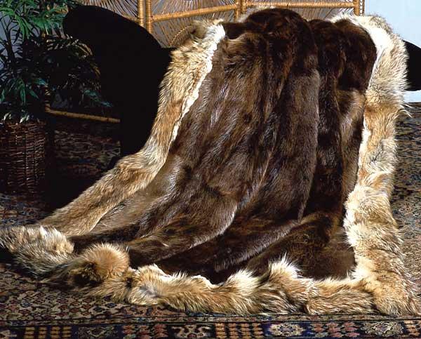 Real Fur Bedspreads Of Fox Mink Lynx Chinchilla Beaver